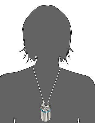 Unlimited Metal Tassel Crescent Necklace