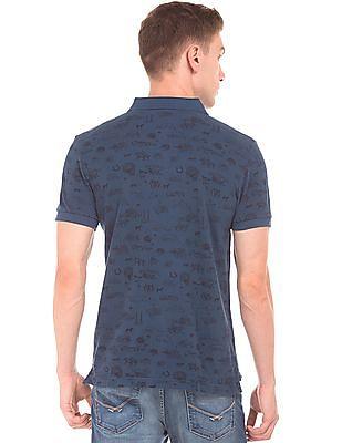 U.S. Polo Assn. Denim Co. Brand Print Muscle Fit Polo Shirt