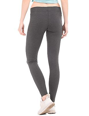 Aeropostale Heathered Cotton Stretch Leggings