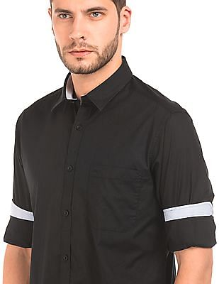 Izod Slim Fit Cotton Poplin Shirt