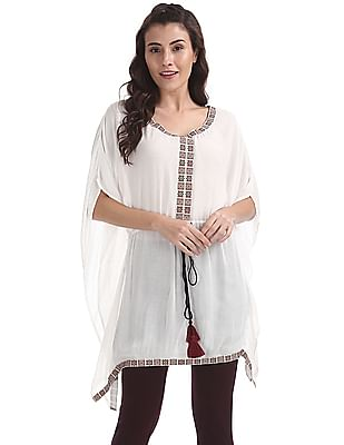 Bronz Crinkled V-Neck Tunic