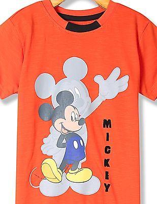 Colt Boys Short Sleeves Mickey Mouse Print T-Shirt