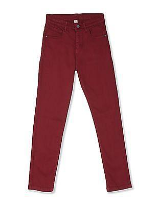 Cherokee Red Boys Slim Fit Mid Waist Jeans