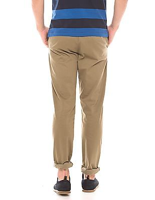 Arrow Sports Flat Front Tapered Fit Chinos