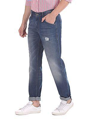Flying Machine Regular Slim Fit Mid Rise Jeans