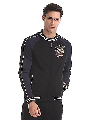 Ed Hardy Slim Fit Zip-Up Sweatshirt