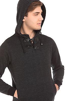 Newport Patterned Knit Hooded Sweatshirt