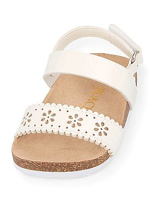 The Children's Place Baby White Perforated Luna Sandals