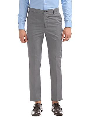 Arrow Newyork Tapered Fit Pattern Weave Trousers