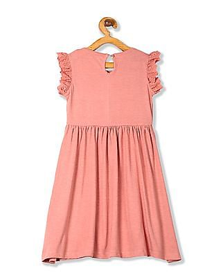 Colt Girls Ruffle Sleeve Fit And Flare Dress
