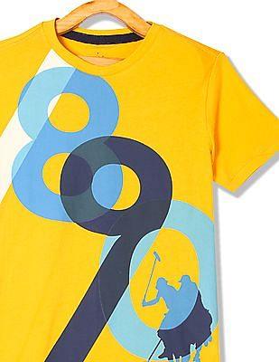 U.S. Polo Assn. Kids Boys Crew Neck Printed T-Shirt