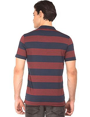 Roots by Ruggers Striped Short Sleeve Polo Shirt