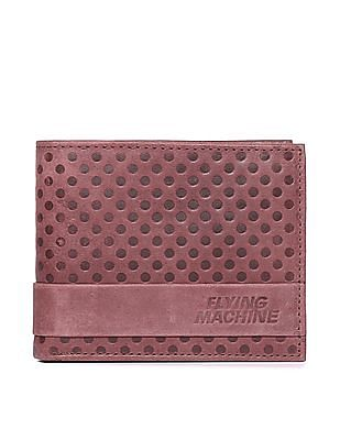Flying Machine Dot Embossed Leather Wallet