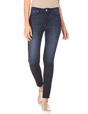 Aeropostale Mid Rise Dark Wash Jeans