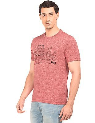 Aeropostale Embroidered Front Grindled T-Shirt