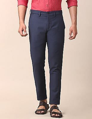 True Blue Slim Fit Mid Rise Chinos