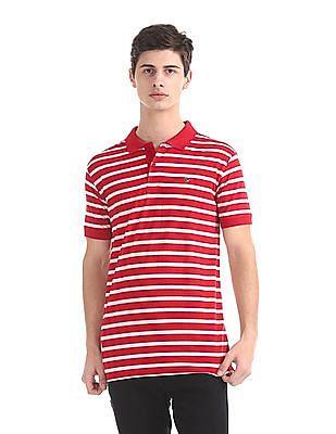 Ruggers Slim Fit Striped Polo Shirt