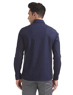 Arrow Slim Fit French Placket Check Shirt