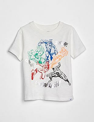 GAP Baby Marvel© Graphic Short Sleeve T-Shirt