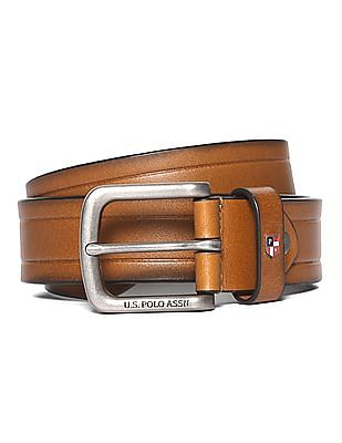 U.S. Polo Assn. Patterned Leather Belt