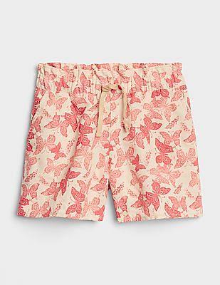 GAP Girls Ruffle Shorts In Linen