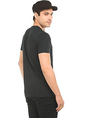 Flying Machine Printed Applique Cotton T-Shirt