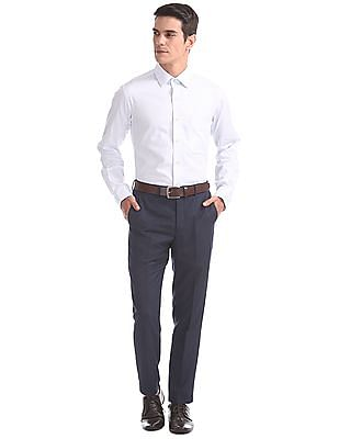 Arrow Tapered Fit Textured Trousers