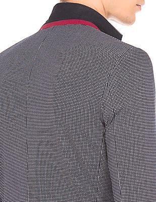 Arrow Newyork Textured Weave Slim Fit Blazer