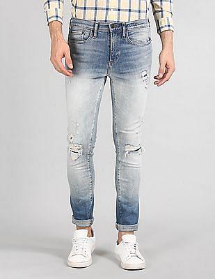 GAP Skinny Fit Faded Jeans