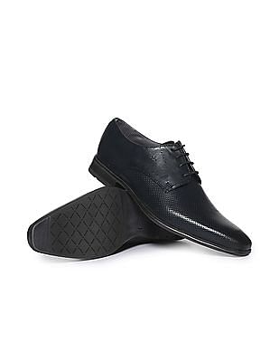 Arrow Pointed Toe Perforated Derby Shoes