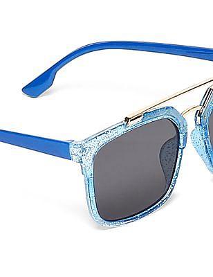 Unlimited Boys Retro Style Rectangular Frame Sunglasses