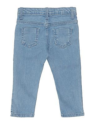 Donuts Girls Embroidered Side Washed Jeans