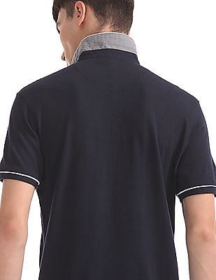 Flying Machine Slim Fit Textured Polo Shirt