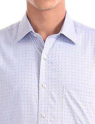 Arrow Regular Fit Two Tone Shirt