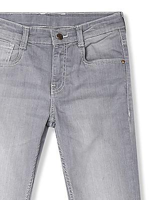 FM Boys Grey Boys Washed Skinny Fit Jeans