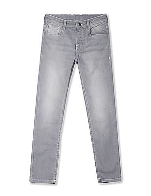 FM Boys Grey Boys Washed Skinny Fit Jeans