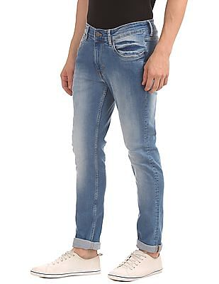 U.S. Polo Assn. Denim Co. Paint Spot Slim Tapered Fit Jeans