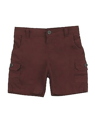 Donuts Boys Solid Cargo Shorts