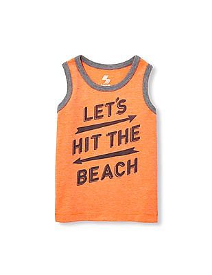 The Children's Place Toddler Boy Place Sport Sleeveless Graphic Ringer Tank Top
