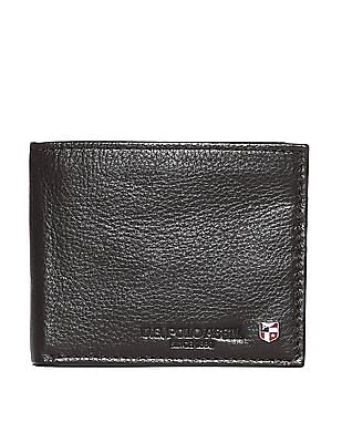 U.S. Polo Assn. Brown Textured Leather Wallet