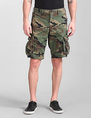 1937467704 Buy Men 000000044076045203 Camouflage Mens Shorts online at NNNOW.com