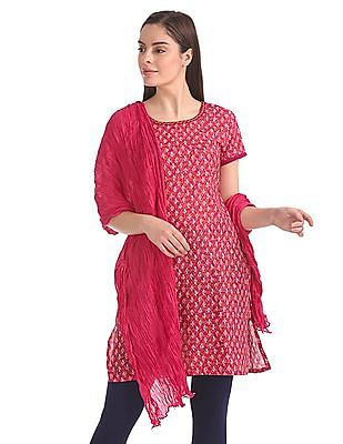Karigari Crinkled Cotton Dupatta