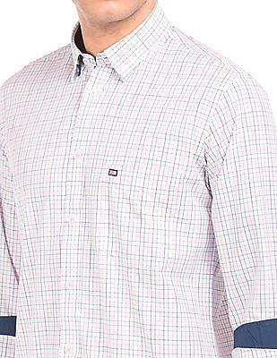 Arrow Sports Uv Protected Regular Fit Check Shirt