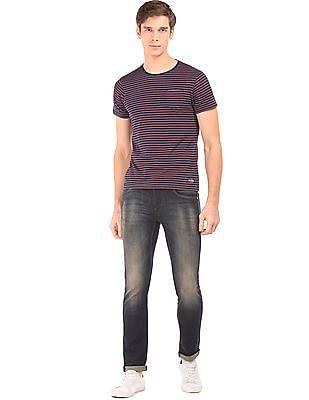 Flying Machine Striped Slim Fit T-Shirt
