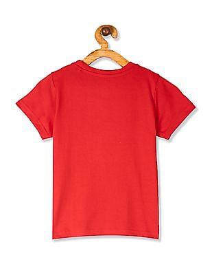 Cherokee Red Boys Printed Cotton T-Shirt