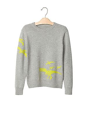 GAP Boys Intarsia Graphic Crew Sweater