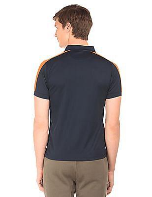Arrow Sports Colour Block Mesh Polo Shirt