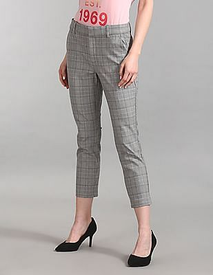 GAP Plaid Skinny Ankle Pants With Secret Smoothing Pockets