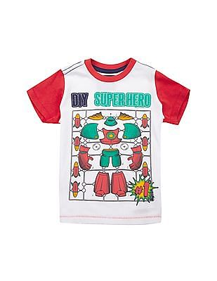Cherokee Boys Colour Block Crew Neck T-Shirt