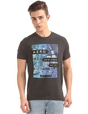 Aeropostale Contrast Print Round Neck T-Shirt
